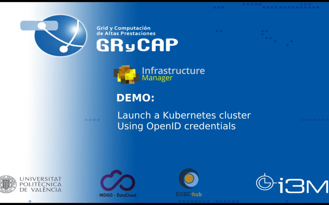 Using Kubernetes on Federated Cloud in EOSC-Synergy.